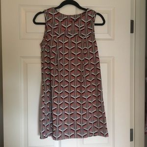 Karlie Geometric Print Dress